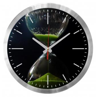 Klok met logo bedrukken aluminium Falcon 30cm