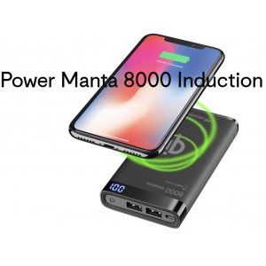 Cellularline Draadloze lader - powerbank Manta 8000 Induction bedrukken
