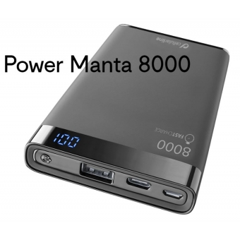 Cellularline Powerbank Manta 8000 mAh bedrukken