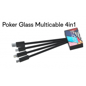 4-in-1 Oplaadkabel Poker Glass bedrukken