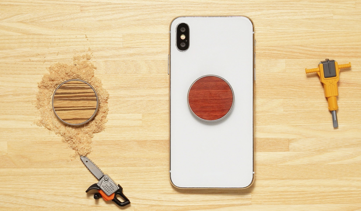 PopSockets Pop Grip Original Wood graveren